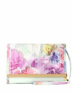 Floral printed mini iPad case - Pale Green | Gift Accessories | Ted Baker