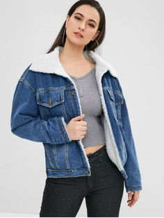 45320bb2482 This faux fur denim jacket is a must have ! And if you don t