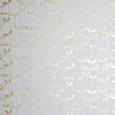 MISS PRINT I Saplings Gold on White Wallpaper