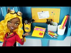 How to make a doll pencil holder and pencil case - YouTube