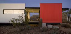 Talesin Mod.Fab was developed by students at Taliesin West in collaboration with Victor Sidy  Siegal. The stunning result is very Frank Lloyd Wright meets a desert prefab.