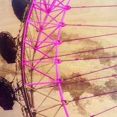 Liking where this is going... Experimenting with #photoshop before I take paint to engraving. #londoneye #jensheehan