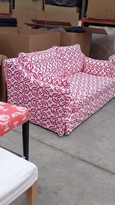 Custom slipcovers for IKEA furniture! #ikeahacks #slipcovers #furniture