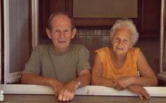 Maryse Innocenti & Laurent Venturini. --- Mère et père du poète Serge Venturini, dans leur maison, en Corse. --- Afficher l'image d'origine