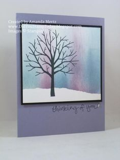 Northern Lights Tree by mandypandy - Cards and Paper Crafts at Splitcoaststampers