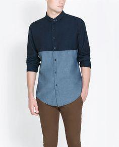 CAMISA DENIM - Slim Fit - Camisas - HOMBRE | ZARA Colombia