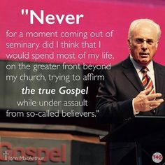 """The Gospel of God is at the core of what we do."" - John MacArthur Livestream #T4G2016 for free at t4g.org."