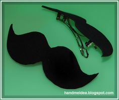 Moustache Hair Clip (Brooch Accesory)..i want this