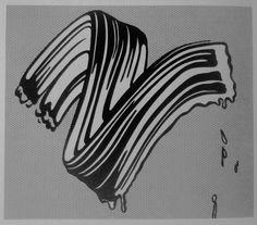 """""""White Brushstroke"""", 1965, Roy Lichtenstein"""
