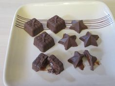 Chocolate with Caramel Centres. Made with fabulous moulds #gift shaped and #magicstars