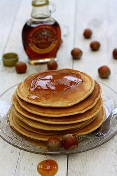 Pancakes au lait de noisettes