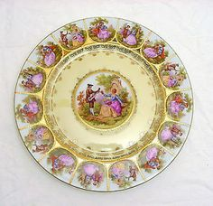 Courting Couple Sabin China Crest O Gold Cups And Saucers