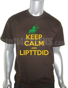"Price: $39.00  ""Keep Calm And LIPTDID"" across a brown Iota Phi Theta t-shirt. This design is embroidered, not screen-printed. The result is a higher-quality garment where the letters are stiched-on (sewn into the garment) and the image will never fade, crack, nor peel."