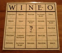 Like Bingo? Like wine? Wine games make great gifts for the wine enthusiast. Wine-O ® Bingo for Wine Lovers is a fun, easy to play, wine bingo game. What a fun game to play at your next wine tasting party! Winery Bridal Showers, Bridal Shower Wine, Wine Tasting Events, Wine Tasting Party, Wine Party Decorations, Wine Party Themes, Wein Parties, Wine Party Appetizers, Party Snacks