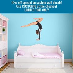 10% off custom wall decals! Limited time only! Use the coupon code CUSTOM10 at the checkout