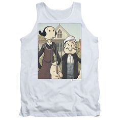 """Checkout our #LicensedGear products FREE SHIPPING + 10% OFF Coupon Code """"Official"""" Popeye / Popeye Gothic - Adult Tank - Popeye / Popeye Gothic - Adult Tank - Price: $29.99. Buy now at https://officiallylicensedgear.com/popeye-popeye-gothic-adult-tank"""