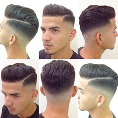 Mens Hairstyles Pompadour, Mens Hairstyles Fade, Hairstyles Haircuts, Cool Hairstyles, Wedding Hairstyles, Haircut Names For Men, Haircuts For Men, Modern Haircuts, Modern Hairstyles