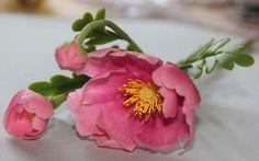 Космея из полимерной глины Modern clay « Керамическая флористика. Цветы из холодного фарфора. Уроки и мастер-классы