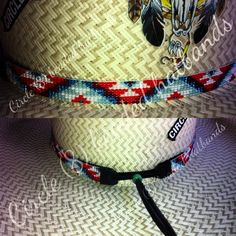 "Beaded hat band, Circle (8) beaded hatbands"" like us on Facebook"