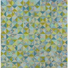 Easy Hourglass Quilting Project -Made using only squares, this hourglass block quilt makes great use of a selection of coordinated prints. Arrangement doesn't matter. The diagonal seams and darker fabrics in each block will create graphic angles across the quilt top.