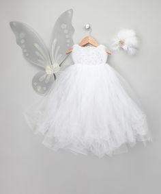 White Snow Fairy Dress-Up Set - Infant & Toddler Enchanted Fairyware Couture $99.99