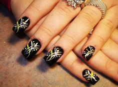 Easy Black Simple Nail Polish | Latest Nail Art Designs 2015
