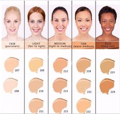 bare minerals foundation colors