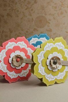 Grußkarte Blütenrahmen, Bild3, gebastelt mit Produkten, Stanzen und Stempeln von Stampin' Up!