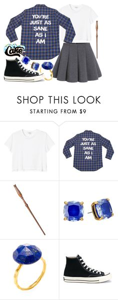 """Luna Lovegood"" by leslieakay ❤ liked on Polyvore featuring Monki, Kate Spade, Alanna Bess, Converse, harrypotter, hogwarts, disneybound, ravenclaw and lunalovegood"
