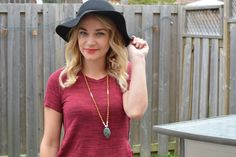 How to Wear Hats for Fall.  Floppy Fall Hats, cute fall boots and more. | Nelle Creations