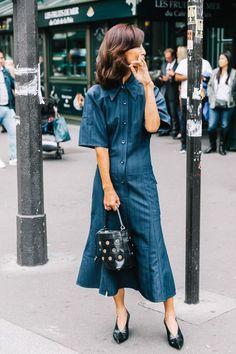 How to wear a denim dress