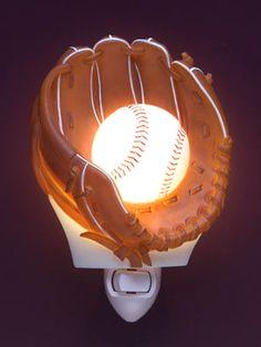 Ball in Glove Baseball Night Light