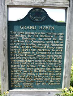 Grand Haven Historical Marker by Eridony, via Flickr