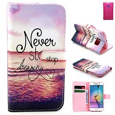 Galaxy s6 Edge case,Samsung Galaxy S 6 Edge Wallet Case Cover, Samsung Galaxy S6 edge Protective Case 2015 release,Vogue shop New Fashion Pineapple Pattern[Executive Wallet Kickstand][Stand Feature] **NEW** [Wallet S] [Black] Premium Synthetic Leather Flip Case Stand Cover with Card Slots [ID/Card Slot] and Note Holder fit for Samsung Galaxy S6 Edge with Stand All-around TPU Inner Case Skin Cover and Snap Button Closure Stylish Pattern Design for Galaxy S 6 Edge (Vogue shop-Never stop…