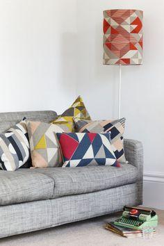 Cushions and lampshade by Tamasyn Gambell