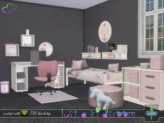 Created By BuffSumm Just A Kidsroom Created for: The Sims 4 Soft colors mixed with light wood. Just the best combination for a kidsroom. Sims 4 Cc Furniture Living Rooms, Kids Bedroom Furniture, Plywood Furniture, Modern Furniture, Furniture Design, Mods Sims 4, Toddler Bedroom Sets, The Sims 4 Bebes, Muebles Sims 4 Cc