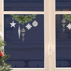 D co de no l pour les fen tres on pinterest noel deco and stickers - Stickers noel pour vitres ...