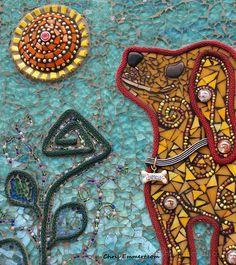 Beautiful mixed media mosaics by Chris Emmert