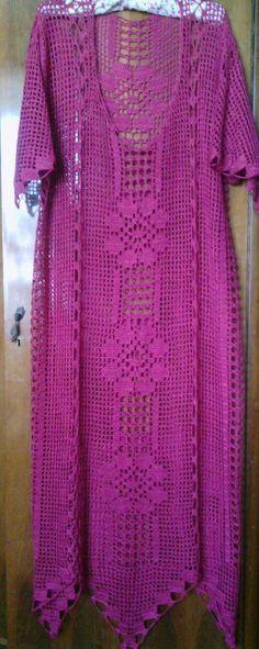 Crochet Coat, Crochet Cardigan, Crochet Scarves, Crochet Clothes, Crochet Designs, Crochet Patterns, Vestidos Bebe Crochet, Crochet Lingerie, Finger Crochet
