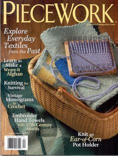 Weave-It Loom featured in the March/April 2010 issue of Piecework Magazine Weaving Textiles, Weaving Patterns, Knitting Patterns, Knitting Tutorials, Stitch Patterns, Crochet Patterns, Pin Weaving, Loom Weaving, Weaving Art