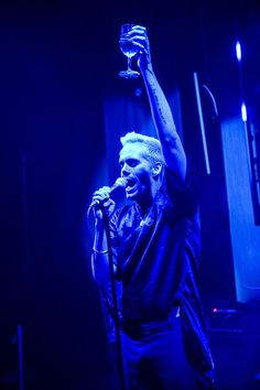 The Sayers Club Las Vegas welcomed Semi Precious Weapons to the stage for a special performance on Thursday, Sept. 4, 2014 (Pictured: Lead singer Justin Tranter – Photo credit: Al Powers/Powers Imagery).
