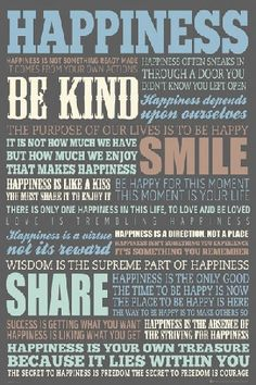 Plakat - Happiness - plakaty