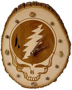 Handmade wood burned clock