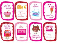25 free printable valentine's cards