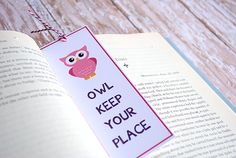 Owl Bookmark Printable - have kids make these for mom's day?