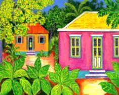 Curacao Houses ~ The Art of Nena Sanchez