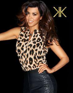 Kardashian Leopard Bow Blouse