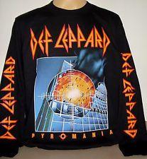 Def Leppard Pyromania long sleeve T-Shirt Size S M L XL 2XL 3XL Hard Rock Band