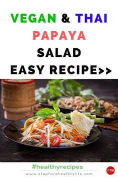 This vegan green papaya salad is a delicious light appetiser. How to make it? It's very easy to make with healthy ingredients and you can use as a healthy vegan appetiser,snack or for even a quick lunch. You don't need to have great kitchen skills and can even prepare with the help of you family members. Get this easy recipe,Enjoy!🥗 Vegan food,vegan lunch,vegan healthy snacks, healthy lunch to go,healthy salad recipes,vegetarian salads,vegetarian recipes