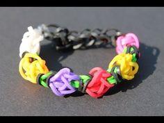 Rainbow Loom Nederlands, Tulip Tower, armband, bracelet - YouTube